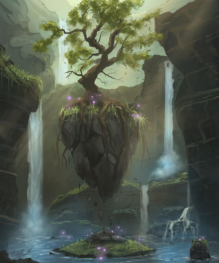 There are mystical places hidden in the Sea of Stars.  (The Eternal Tree by FrankAtt on deviantART)