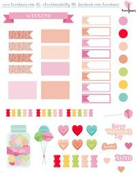 FREE printable candy planner stickers