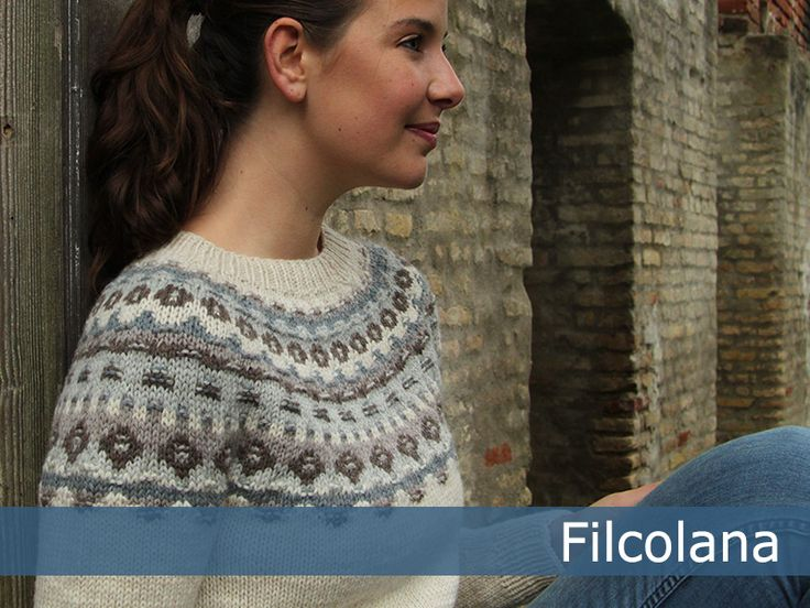 Kjerstin. Traditional Faroe pattern from Filcolana. Free pattern in English, German and Danish