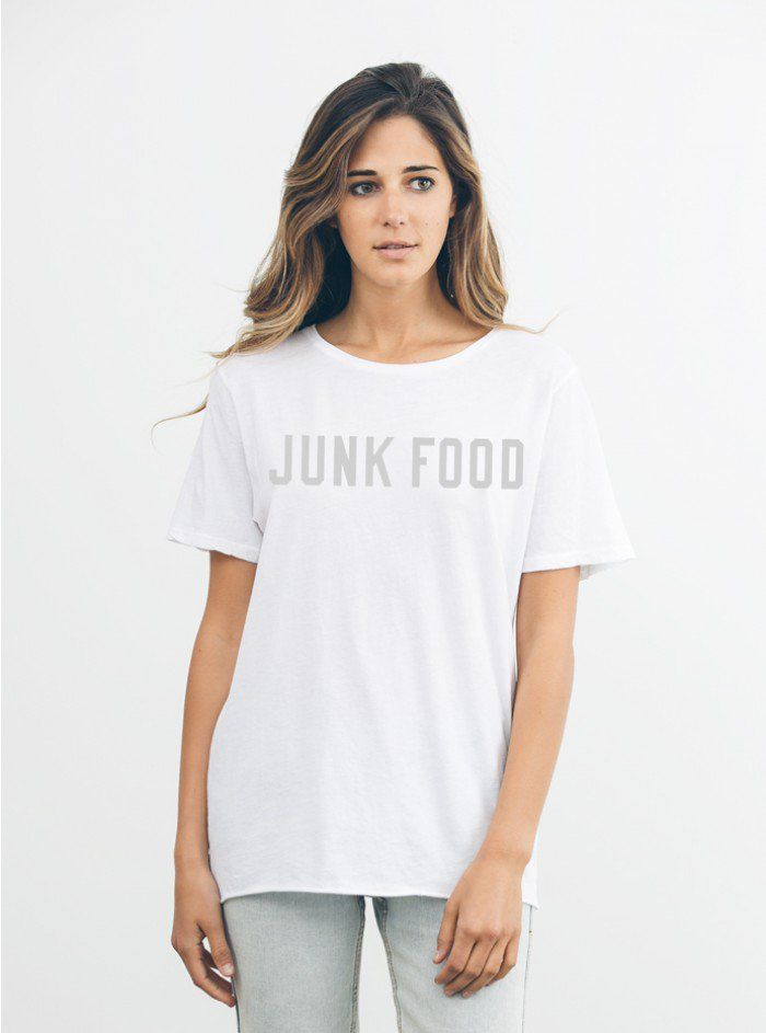 Pin for Later: 27 Sugary-Sweet Pieces For Girls Who Want All the Candy Junk Food Tee Junk Food Tee ($24, originally $36)