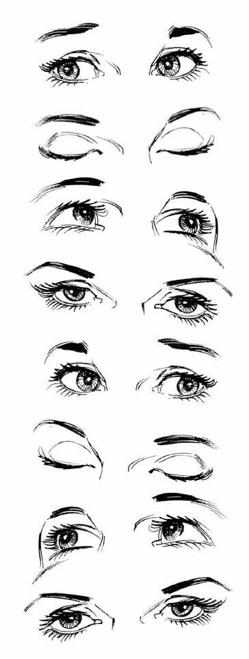 Eyes in different angles