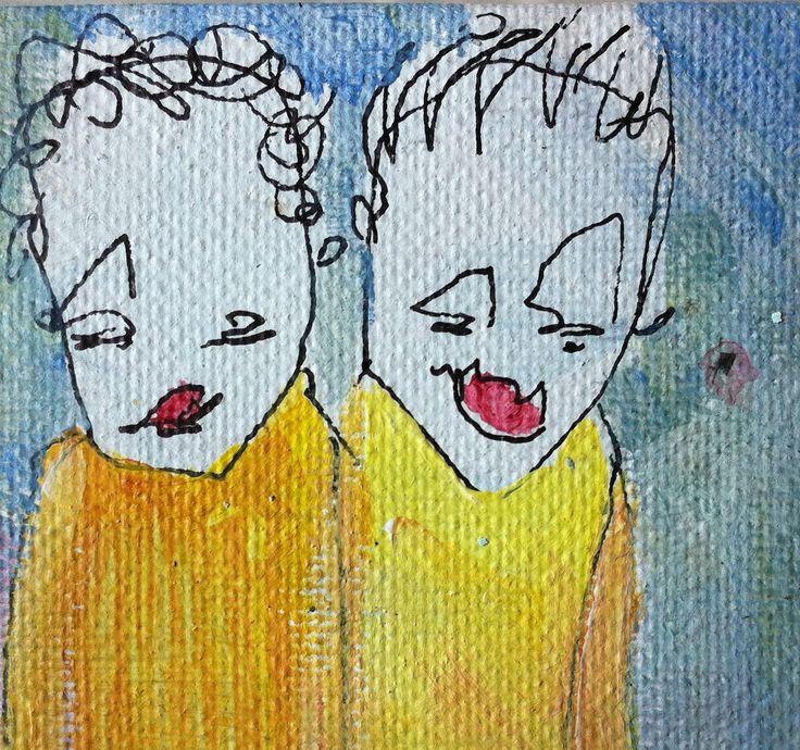 deux amis en miniature -winzig- 2013