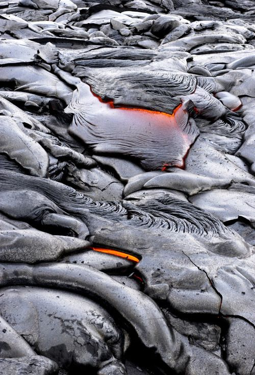 Glowing Volcanic Lava