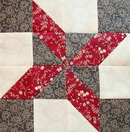 Red Rooster Quilts: Shop   Category: Patterns - Download for FREE   Product: Clay's Choice Downloadable Quilt Block Pattern