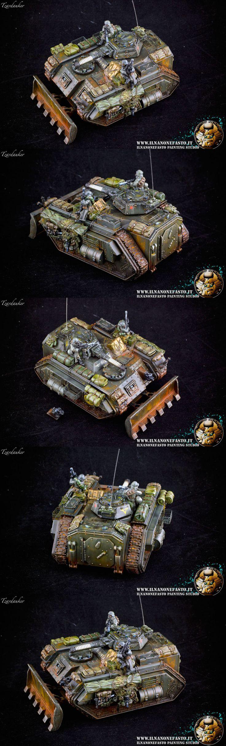Imperial Guard Chimera Autocannon turret converted