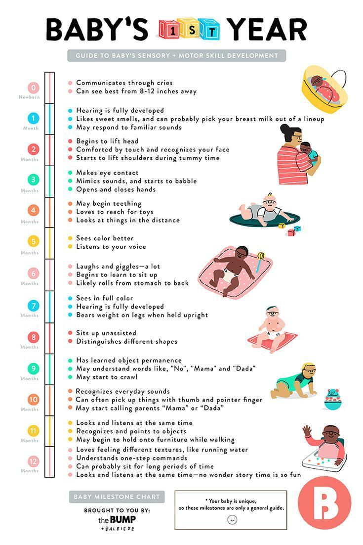 A Quick Guide To Baby S First Year Milestones Baby Information New Baby Products Baby Milestones