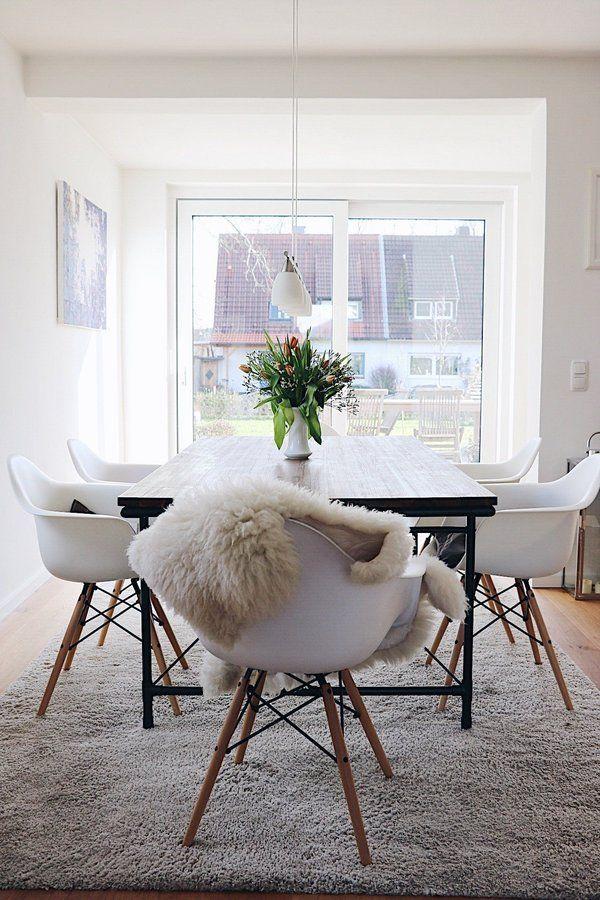 Esszimmer | SoLebIch.de Foto: Mimi We #solebich #esszimmer #ideen  #Wandgestaltung #skandinavisch #landhausstil #tisch #einrichtung #sitzbank  #stu2026