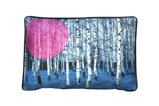 Birches Blue cushion by Cumulus living  The ultimate pairing of linen and velvet. The striking design is digitally...