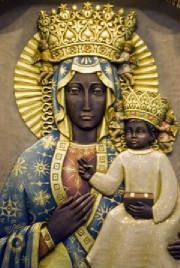 Black Madonna of Czestochowa-Poland. ALL of the earliest Biblical Icons all over the world were people of color until they were whitewashed and or Europeanised. However there are still some original statues depicting Mary and the Messiah in their true original color...Black.