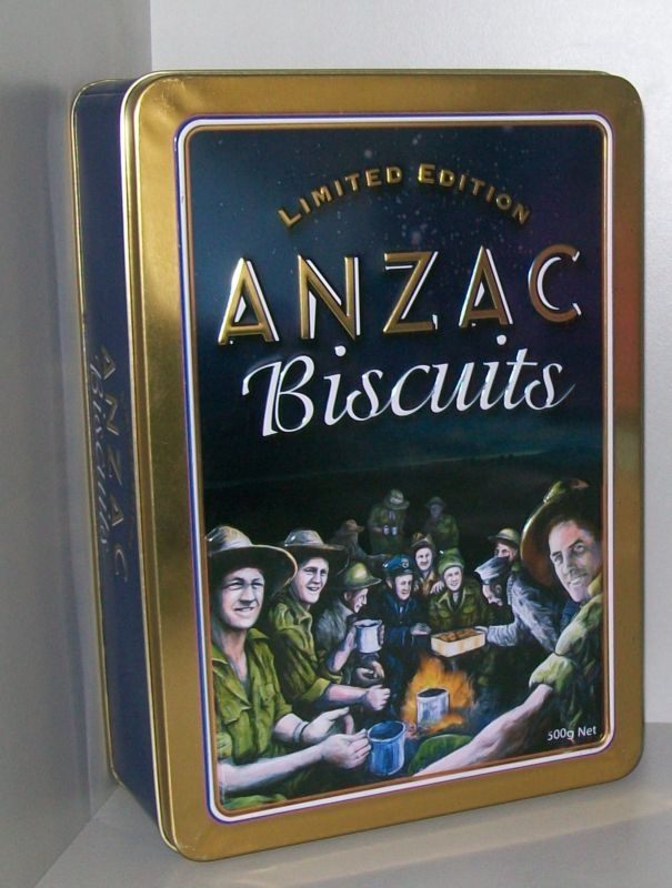 COLLECTABLE ANZAC BISCUIT TIN LIMITED EDITION AROUND THE CAMPFIRE | eBay