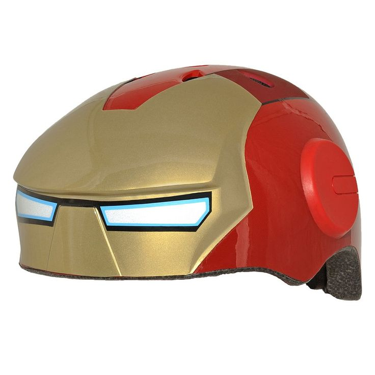 Youth C Preme Marvel Iron Man Bike Helmet, Red