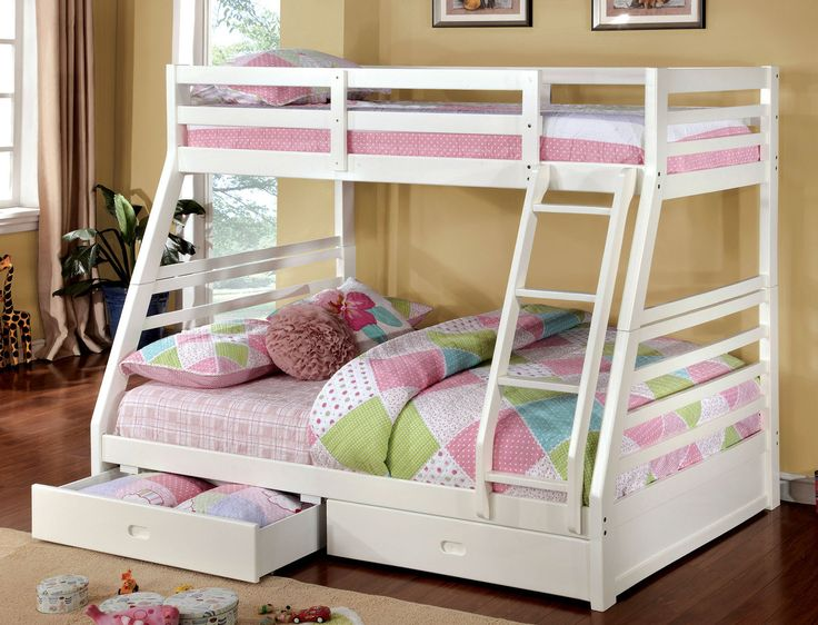 twinfull bunk bed with drawer california collection ii