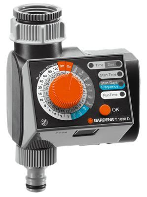 GARDENA Water Timer T 1030 D - R492  This classic model is attached to the tap and controls the automatic irrigation of your garden!