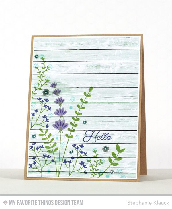 Round Here: MFT Beautiful Blooms Card Kit