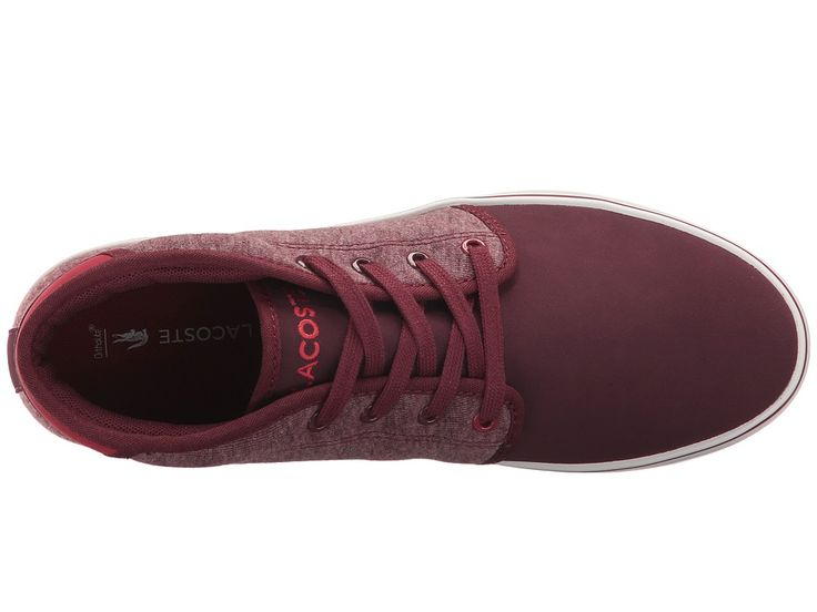 Lacoste Kids Ampthill 317 1 (Little Kid/Big Kid) Kid's Shoes Burgundy