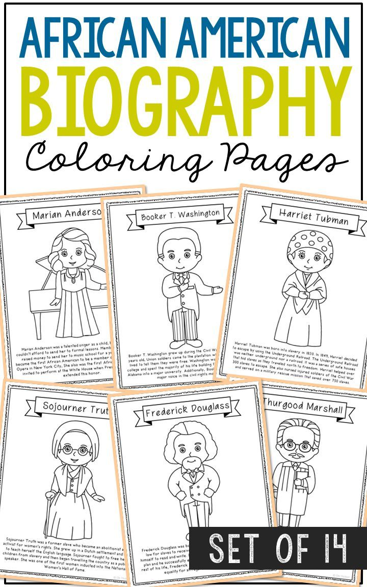 14 African American Coloring Page Crafts, Posters, Black ...