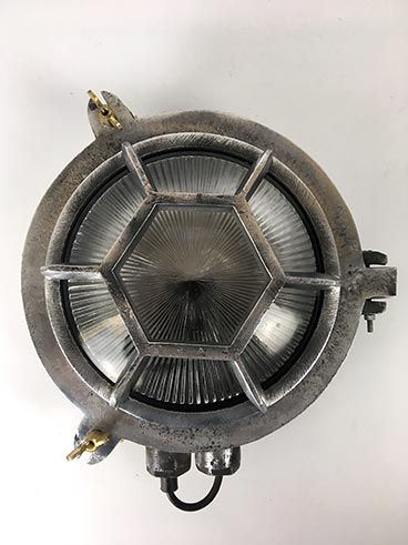 An Any Old Lights Exclusive Art Deco Style Nauticalindustrial Light