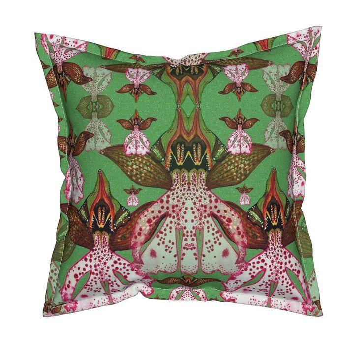 Serama Throw Pillow featuring O.Purpurea by joancaronil | Roostery Home Decor