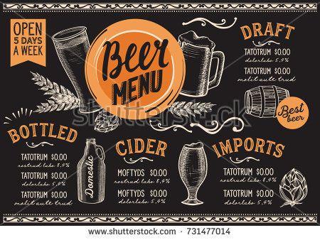162 best Blackboard food menu images on Pinterest Hand drawings - beer menu