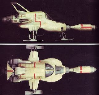 Moonbase Interceptor from the UFO 70's TV show. As kids we loved how much of the ship was missile.