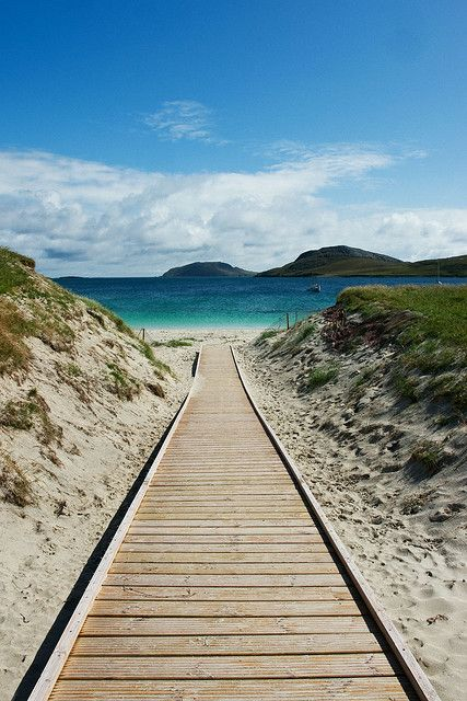 Vatersay Beach, Vatersay, Outer Hebrides, Scotland. sea shore, relax, water, vacations, sand, destinations, tropical, tropics, warm, ocean, sea, seas, crystal clear water, paradise, white sand, salt water, salt life, #beaches #islands #vacations