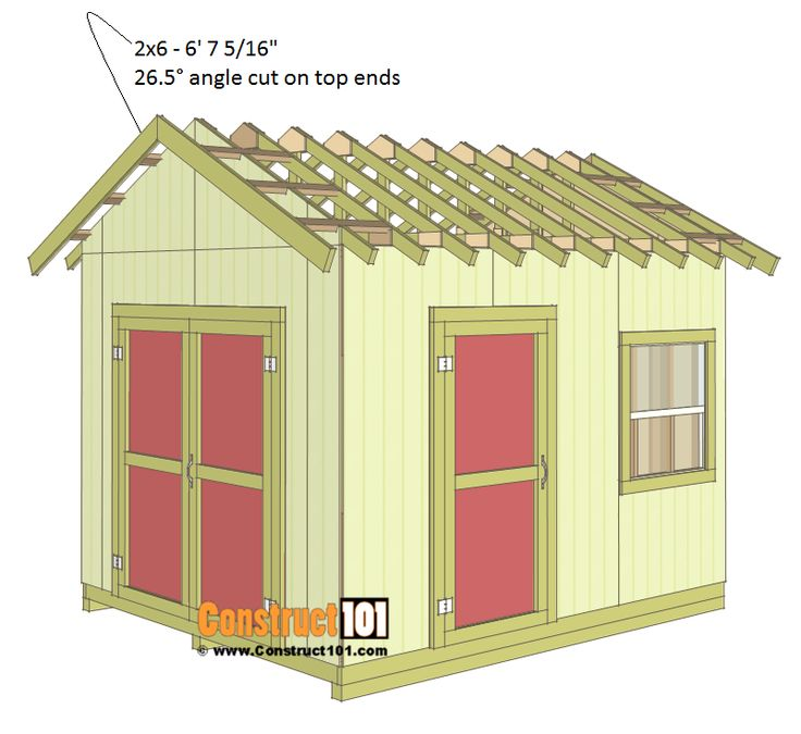 13 best my 10x12 building images on pinterest carpentry for Gable roof barn plans