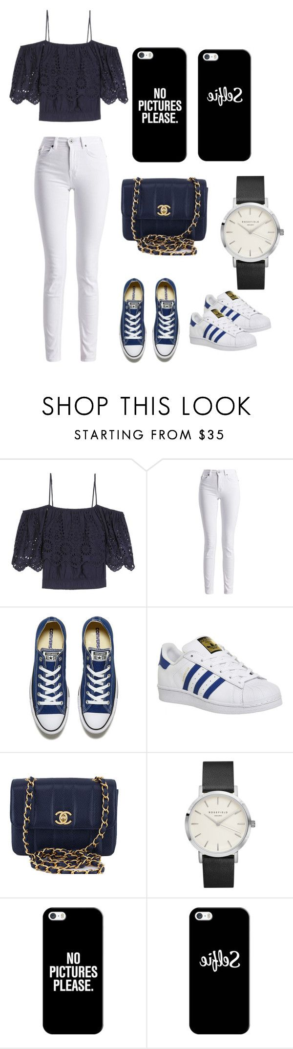 """""""A night in the city"""" by mimixoxo-66 ❤ liked on Polyvore featuring Ganni, Barbour International, Converse, adidas, Chanel and Casetify"""