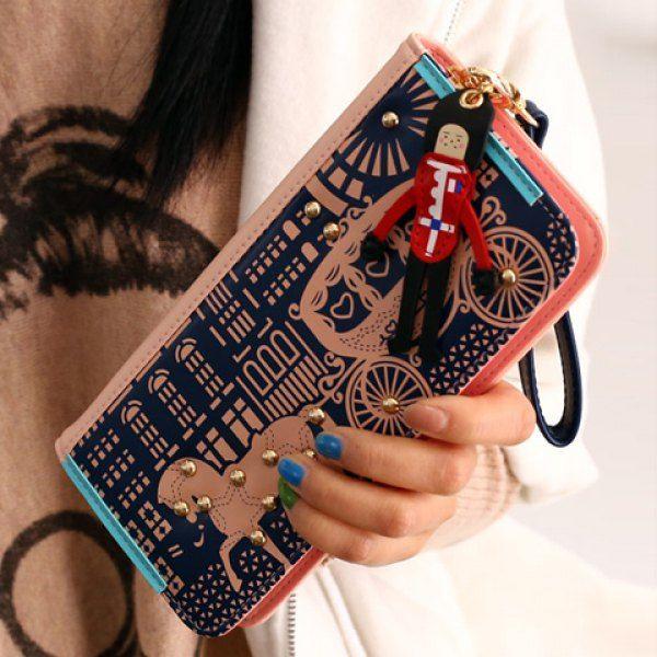 Sweet Horse and Color Block Design Clutch Wallet For Women, PINK in Women's Wallets | DressLily.com