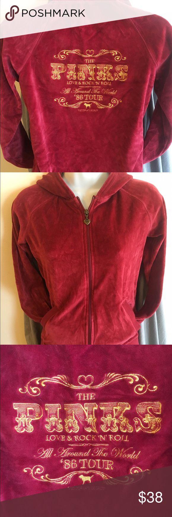Htf pinks tour hoodie Htf the pinks love & rock n roll hoodie 1986 PINK Victoria's Secret Tops Sweatshirts & Hoodies