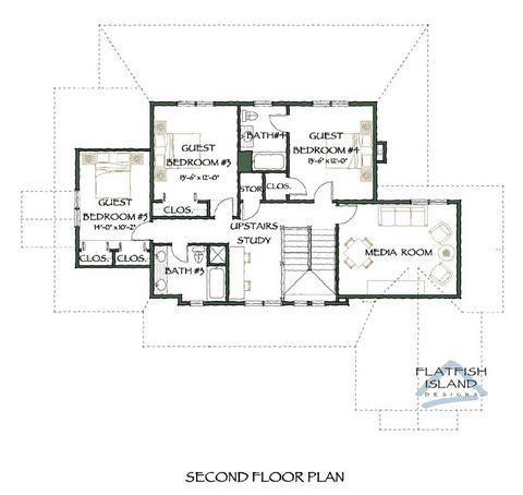 Tugaloo Breeze Second Floor Plan Houses Pinterest