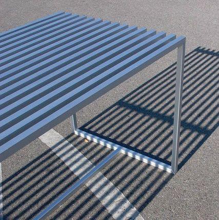 Slatted Aluminum Table