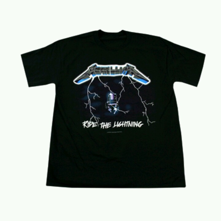RIDE THE LIGHTNING 2012 TOUR T-SHIRT
