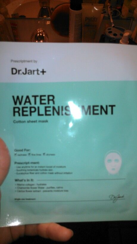 Dr.Jart water replenishment sheet mask, $5 must be added on to an order