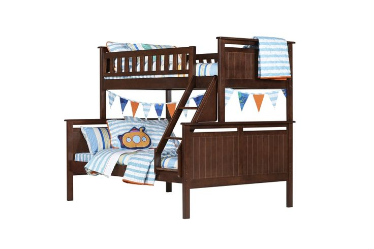 Piccadilly Chocolate Double Timber Kids Bed