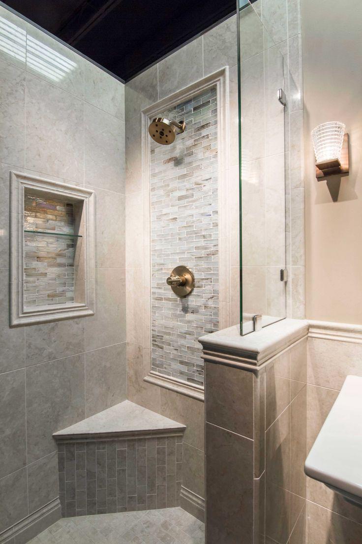 Bathroom shower backsplash focal point tile - Inglewood Glass Mosaic Tile https://www.tileshop.com/product/615734-P.do
