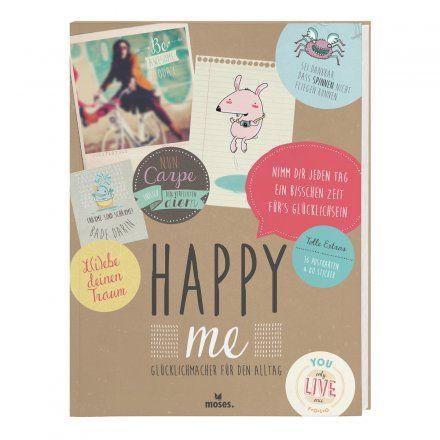 Buch Happy me Glücklichmacher für den Alltag von moses. Verlag jetzt im design3000.de Shop kaufen! Glücklich sein kann sooo einfach sein – man...