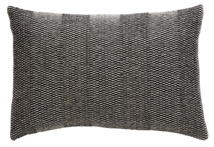 Weave Knit cushion, grey
