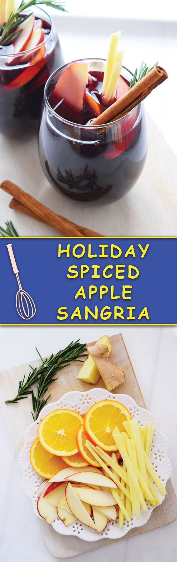 Spiced Apple Sangria - Delicious sangria with apples and spiced with cinnamon and