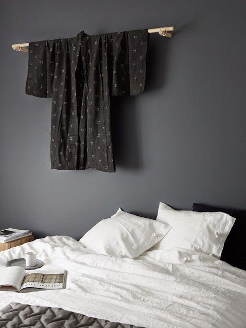 Hitta hem: D I Y säng och kimonoupphägning   Sovrum i Japansk stil