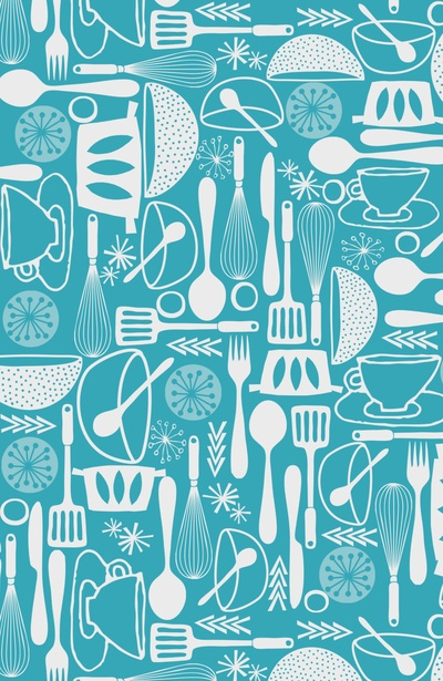 turquoise kitchen Art Print, Jennifer Judd-Mcgee