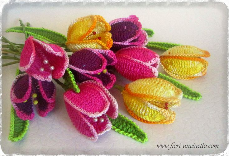 67 best images about Fiori allUncinetto - Crochet Flowers ...