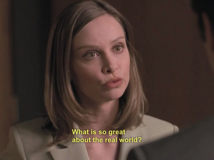 Ally McBeal-- What is so great about the real world?