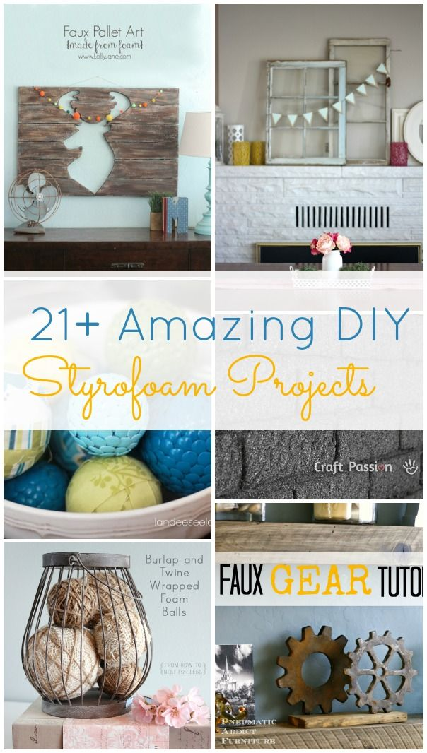 Who knew you could make so many cool things with styrofoam!! There are so many cool ideas here!! Definitely pinning!!