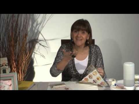 Decoupage y pintura sobre tela - YouTube
