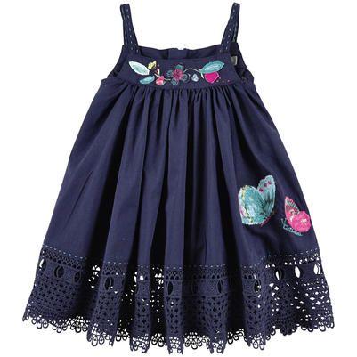 Catimini - Light cotton voile sundress - Navy blue - 104815