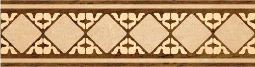 """Diamond Florals"": wood flooring inlaid border design. Multiple species, can be sanded and refinished. #border #floorborder #woodfloorborder #woodfloor #wood #woodworking #woodfloordesign #inlay #intarsia #art #design #floor #functionalart #hardwoodfloor #inlaid #marquetry #pattern #parquet #woodinlay"