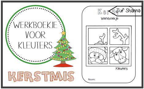 Juf Shanna: Thema kerst: werkboekje voor kleuters