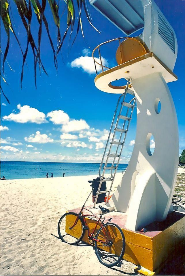 Emon Beach lifeguard tower