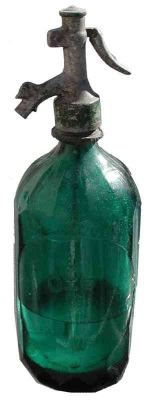 """Deep Teal Green Siphon Dating in the 1880s"""