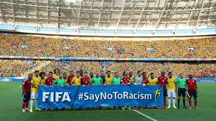 #SayNoToRacism En el Brasil vs. Colombia